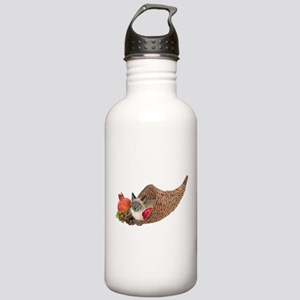 Cat in Cornucopia Stainless Water Bottle 1.0L