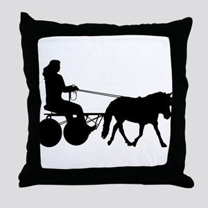 driving silhouette Throw Pillow