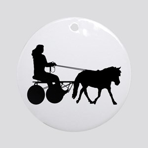 driving silhouette Ornament (Round)
