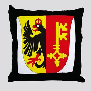 Geneva Coat of Arms Throw Pillow