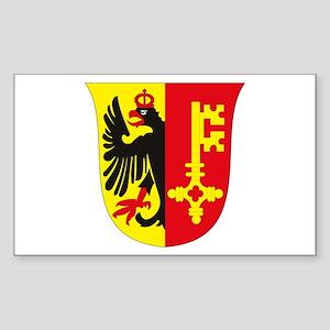 Geneva Coat of Arms Rectangle Sticker