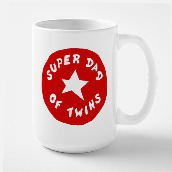 SUPER DAD OF TWINS Large Mug