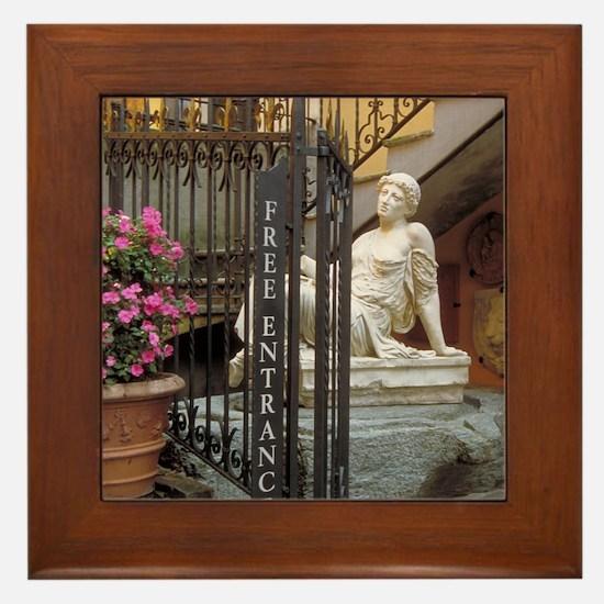 Italy Framed Tile: <br> Italian gift sop
