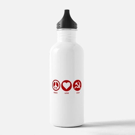 Peace Love CCCP Water Bottle