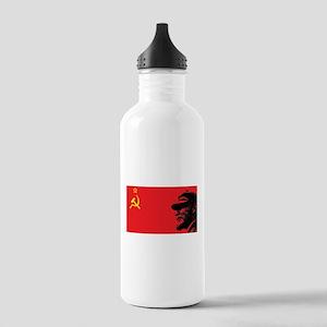 Lenin Soviet Flag Stainless Water Bottle 1.0L