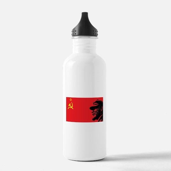 Lenin Soviet Flag Water Bottle