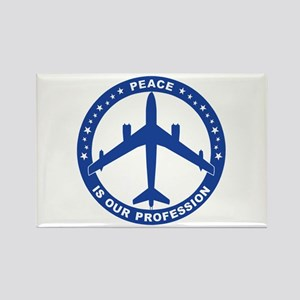 B-47 Peace Sign Rectangle Magnet