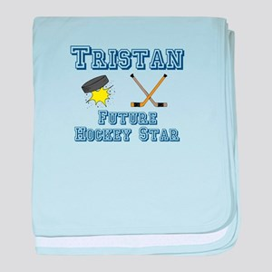 Tristan - Future Hockey Star baby blanket