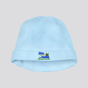 Fishing Can Last All Day baby hat