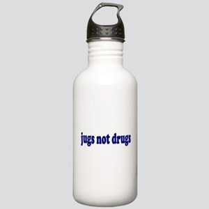 Jugs Not Drugs (Breast) Stainless Water Bottle 1.0