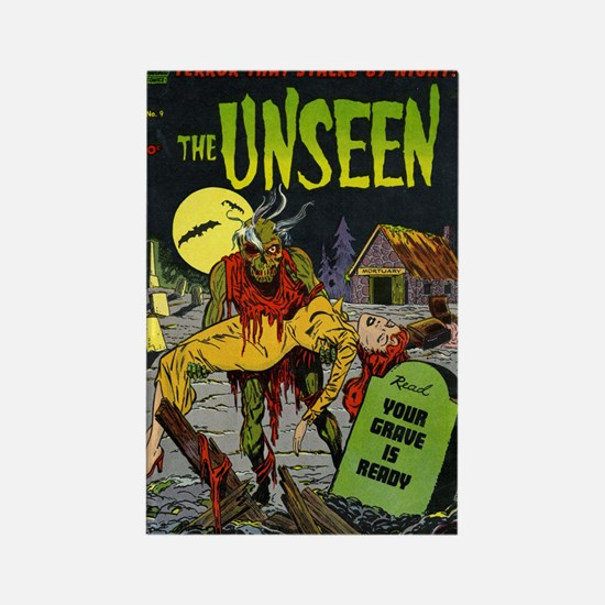 $4.99 Unseen Zombie Rectangle Magnet