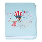 JRT with USA Flag baby blanket