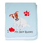 Love My Jack Russell Terrier baby blanket