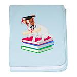 Jack Russell Terrier Graduation baby blanket