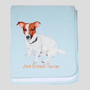 Jack Russell Terrier Painting baby blanket