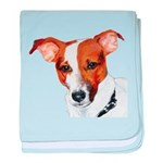 Jack Russell Portrait baby blanket