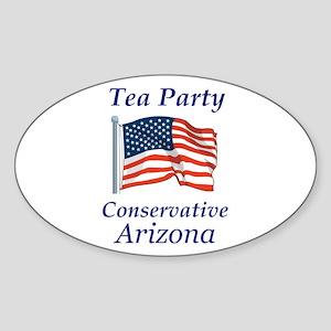 Tea Party Arizona Sticker (Oval)