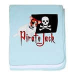 Pirate Jack Russell baby blanket
