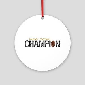 Fantasy League Champion Ornament (Round)