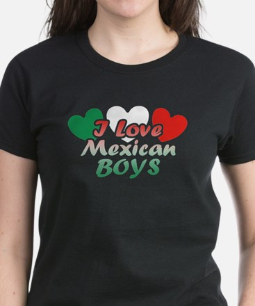 I Love Mexican Boys Women's Dark T-Shirt