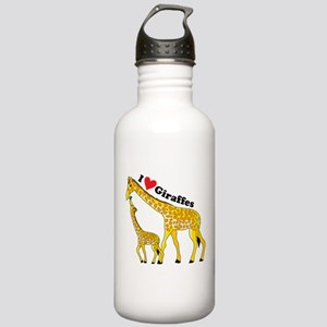 I Love Giraffes Stainless Water Bottle 1.0L