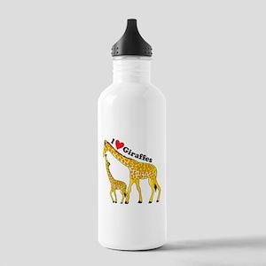 I Love Giraffes Stainless Water Bottle 1.0L