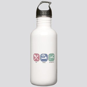 Eat Sleep Scrapbook Stainless Water Bottle 1.0L