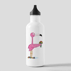 Animal Alphabet Flamingo Stainless Water Bottle 1.