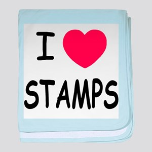 I heart stamps baby blanket