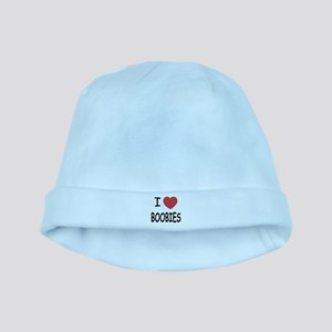 I heart boobies baby hat