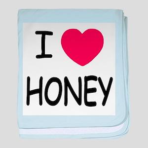 I heart honey baby blanket
