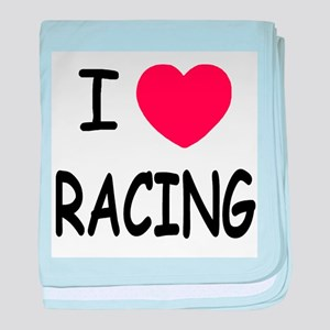 love racing baby blanket