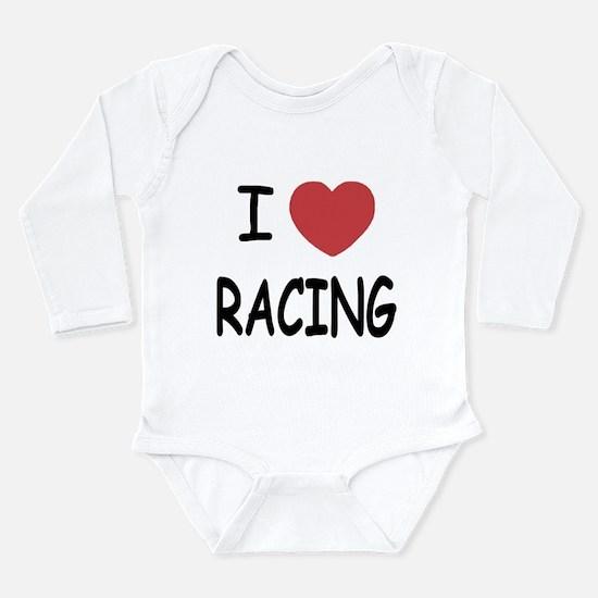 love racing Long Sleeve Infant Bodysuit