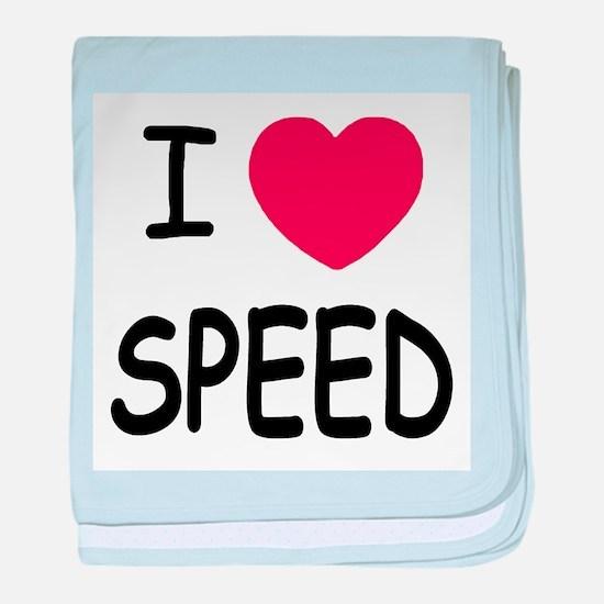 love speed baby blanket