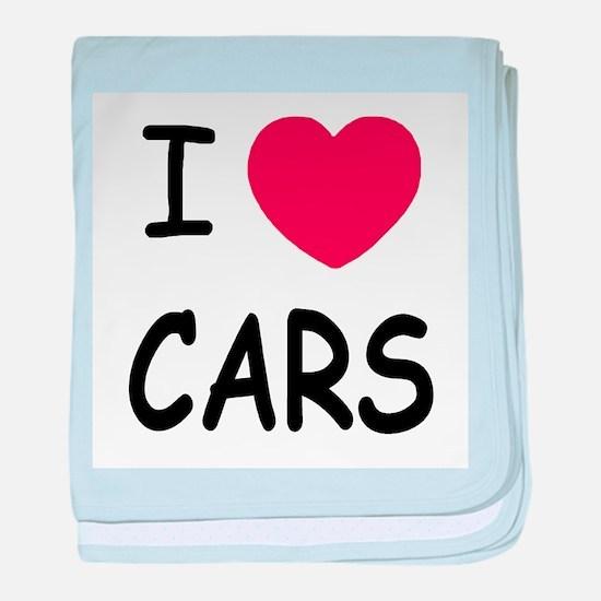 I love cars baby blanket