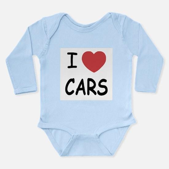 I love cars Long Sleeve Infant Bodysuit