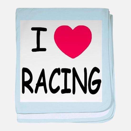 I love racing baby blanket