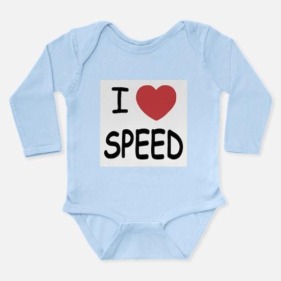 I love speed Long Sleeve Infant Bodysuit