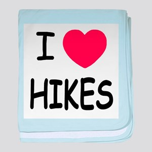 I heart hikes baby blanket