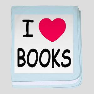 I heart books baby blanket