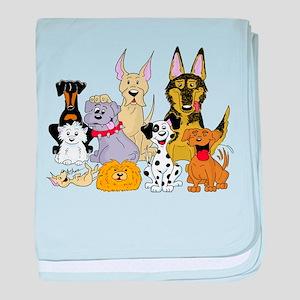 Cartoon Dog Pack baby blanket