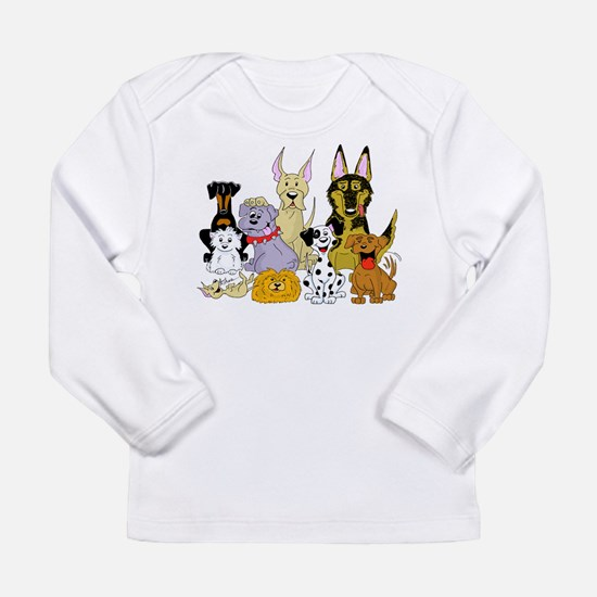 Cartoon Dog Pack Long Sleeve Infant T-Shirt