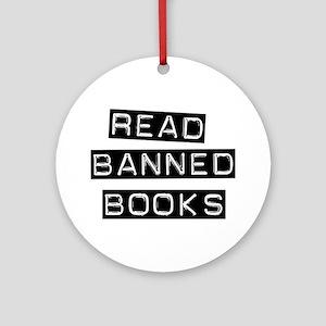 Read Banned Books Ornament (Round)