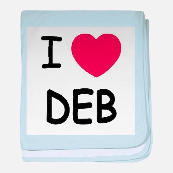 I heart Deb baby blanket