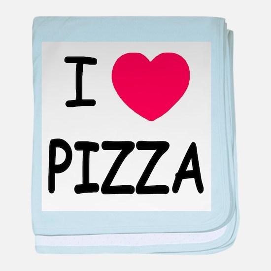 I heart pizza baby blanket