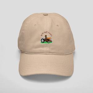 Dark Orange Farmer Cap