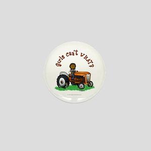 Dark Orange Farmer Mini Button