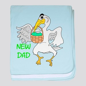 New Dad New Baby baby blanket