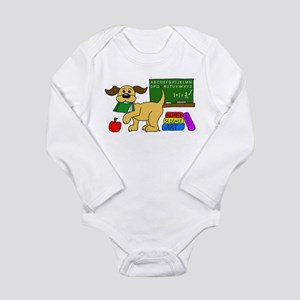 Classroom Pup Long Sleeve Infant Bodysuit