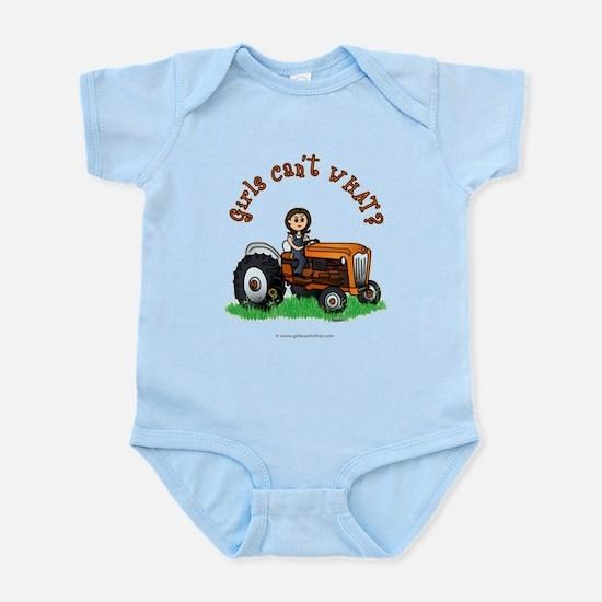 Light Orange Farmer Infant Bodysuit